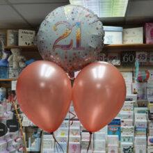 21st Birthday Celebration Balloons close up