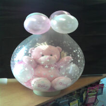 Baby Girl celebration bear in a balloon