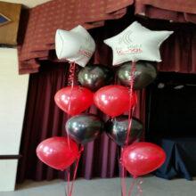 Ecclesfield School Prom balloon display