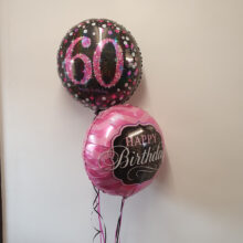 Happy Birthday and 60th Balloons