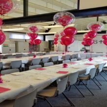 Yewlands School Prom balloon display