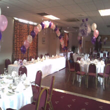 balloon arch for a wedding or birthday celebration